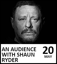 Booking link for Shaun Ryder on 20 May 2021
