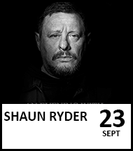Booking link for Shaun Ryder on 20 August 2021