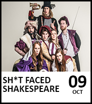 Booking link for Sh*t Faced Shakespeare: Romeo and Juliet on 9 October 2021