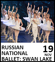 Booking link for Russian National Ballet, Swan Lake on 25 November 2021