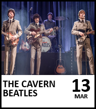 Booking link for The Cavern Beatles on 13 March 2021