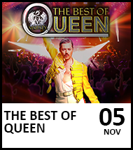 Booking link for The Best of Queen on 5 November 2021