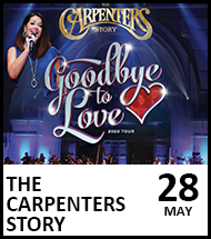 Booking link for The Carpenters Story on 28 May 2022