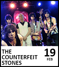 Booking link for The Counterfeit Stones on 19 February 2021