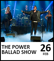 Booking link for The Power Ballad Show on 26 February 2021