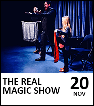 Booking link for The Real Magic Show on 20 November 2021