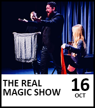 Booking link for The Real Magic Show on 16 October 2021
