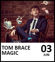 Booking link for Tom Brace on 3 June 2021