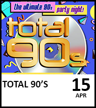 Booking link for Total 90's event on 15 April 2021