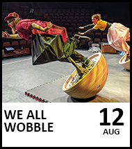 Booking link for We All Wobble on 12th August 2021.