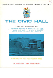 Camberley Civic Hall Programme