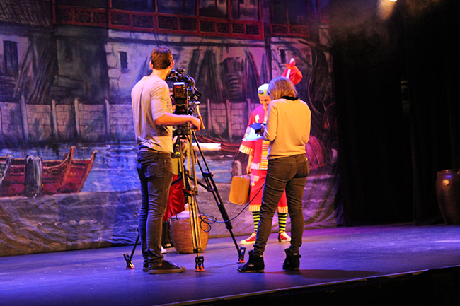BBC filming at Camberley Theatre in 2015