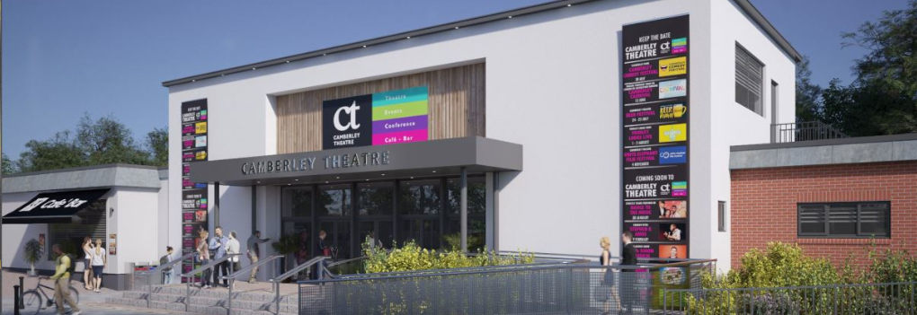 Artist impression of Camberley Theatre once building work is complete